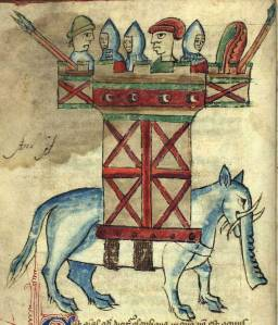 elefante Kongelige Bibliotek, Gl. kgl. S. 1633 4º, Folio 6v