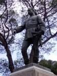 estatua del general Manuel Cassola en el parque del Oeste de Madrid