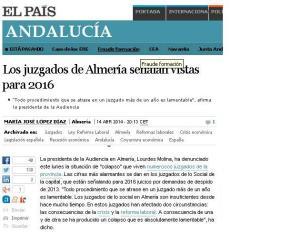 colapso en juzgados de Almería
