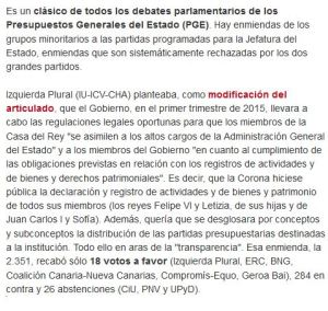 enmienda PGE 2014
