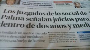 juzgados soial Palma jucios para dentro de dos años y medio