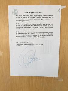 Jueza de Girona cartel informa causa retrasos