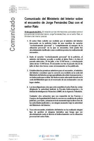 nota prensa M Interior - Rato 10-8-2015