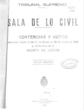 sentencia Pacicos portada Gaceta 1919
